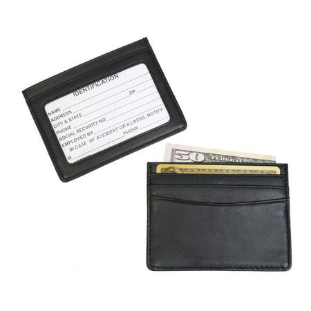 mini id credit card holder black