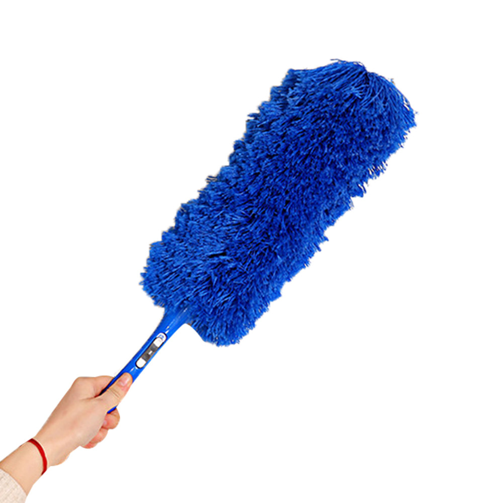 HarmonLLy Magic Soft Microfiber Cleaning Duster Dust Cleaner Handle Feather Static Blue