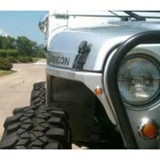 Poison Spyder DeFender Front Fenders (Bare Steel) - 14-02-050