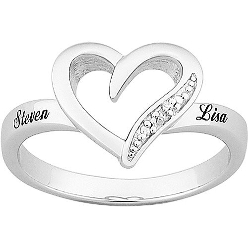 platinum plated sterling silver hearts personalized