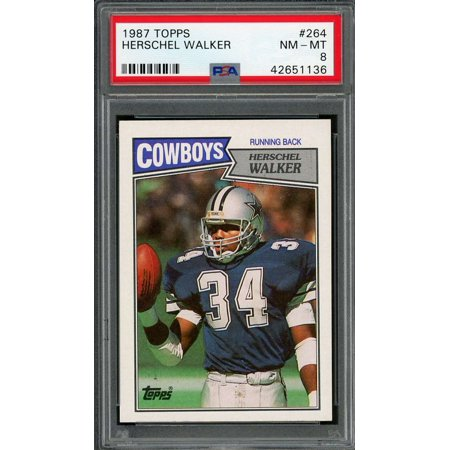 1987 topps #264 HERSCHEL WALKER dallas cowboys rookie card PSA