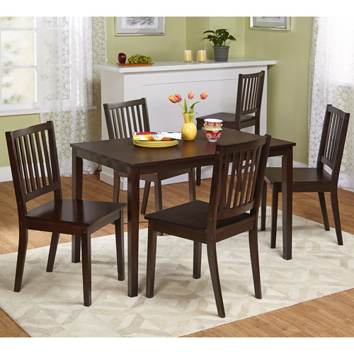 Shaker 5 Piece Dining Set, Espresso