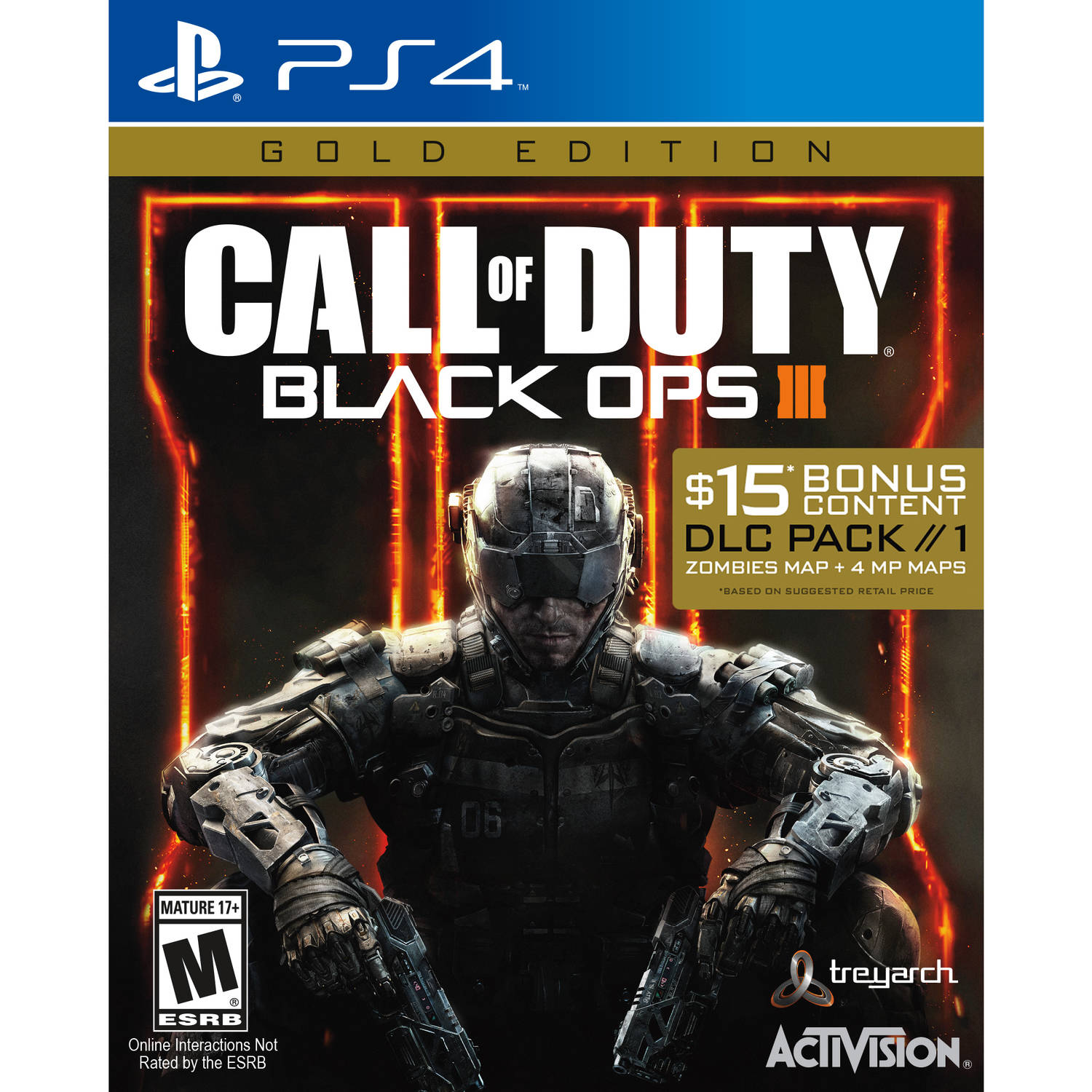 Call of Duty Black Ops 3 Gold Edition w  DLC (Playstation 4) by Activision Blizzard Inc