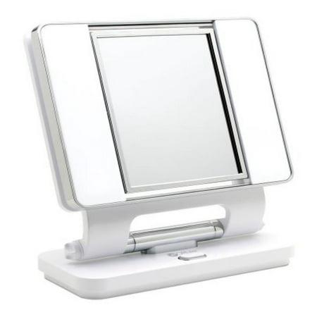 Ott-lite Natural Daylight Makeup Mirror, White (Lite Mirror)