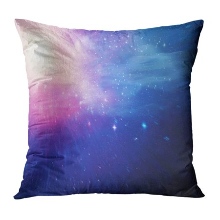 BOSDECO Blue Black Outer Space Pink Comet Computer Graphic Copy Digital Pillowcase Pillow Cover Cushion Case 18x18 inch - image 1 of 1