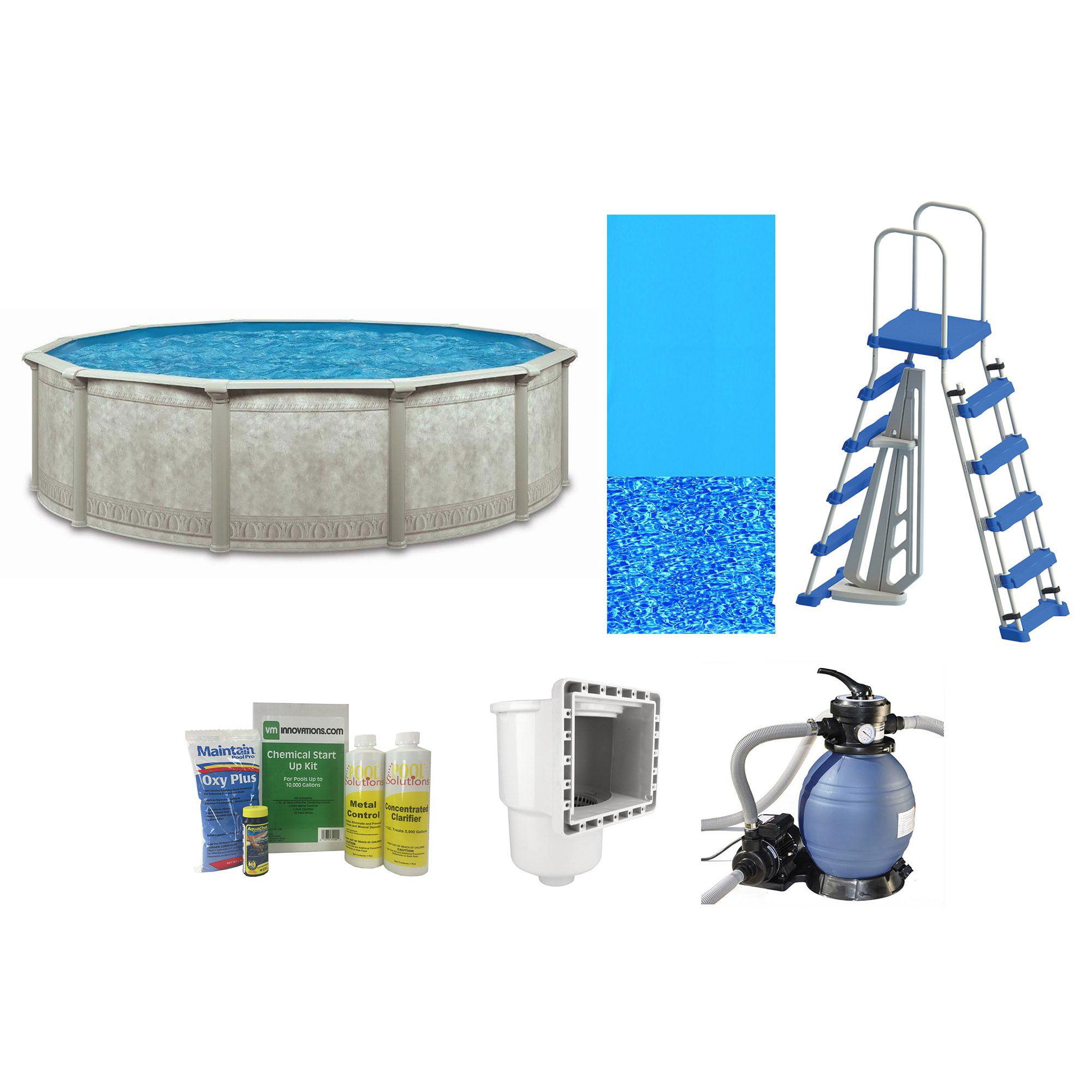 "Cornelius Khaki Venetian 15' x 52"" Complete Above Ground Swimming Pool Package by Cornelius"