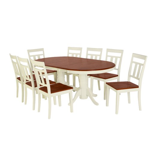 August Grove Alvy 9 Piece Solid Wood Dining Set