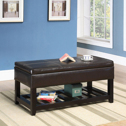 World Imports Furnishings Solid Birch Storage Bench