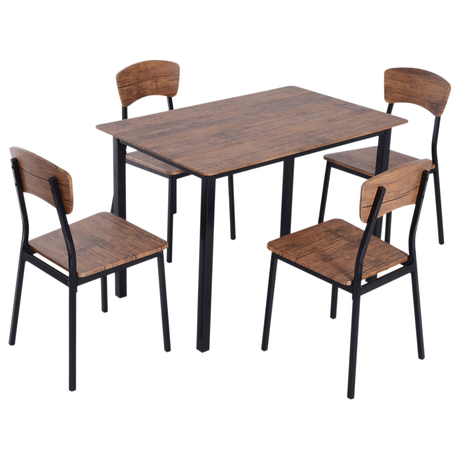Homcom 5 Piece Modern Counter Height, Counter Height Kitchen Table And Chairs Set