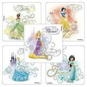 Glitter Disney Princess Tiaras & Jewels Stickers - Birthday Party Supplies & Favors - 50 per Pack