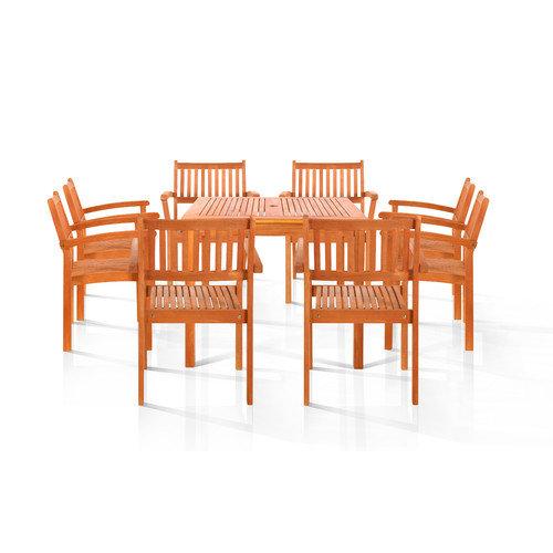 Vifah Pasadena 9 Piece Dining Set