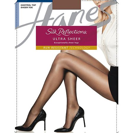 c3ebb5018d4d Hanes - Hanes Silk Reflections Ultra Sheer Control Top Pantyhose with Run  Resistant Technology 3-Pack - Walmart.com