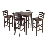 """Parkland 5pc High Table with 29"""" Ladder Back Stools"""