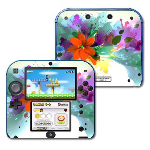 Mightyskins Protective Vinyl Skin Decal Cover for Nintendo 2DS wrap sticker skins Flower Blast