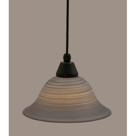 Toltec Lighting-22-MB-603-One Light Mini-Pendant  Matte Black Finish (603 Matte)