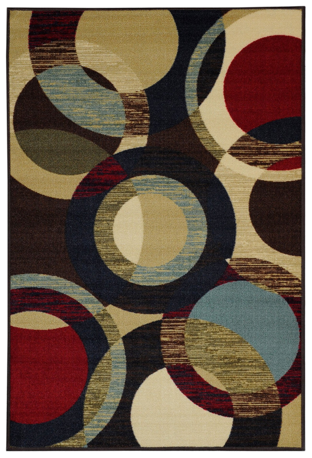 Maxy Home Hamam Collection HA-5049 (Non-Skid) Rubber Back Area Rug 60-inch-by-78-inch 5'x'7' by Rugnur