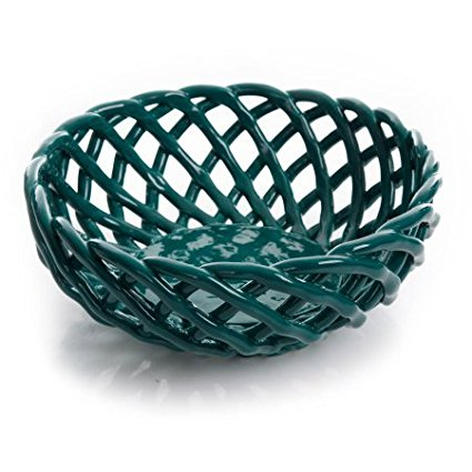9 Bread Basket, OCEAN TEAL | Woven StoNeware Bread Basket OCEAN TEAL, Ship from USA,Brand The Pioneer Woman by