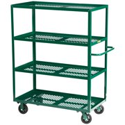 Little Giant 4 Shelf Steel Nursery Cart with Perforated Deck