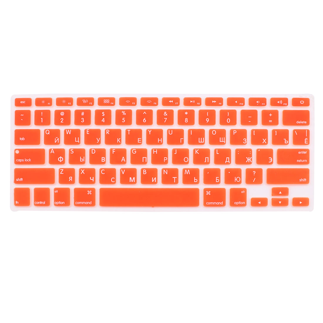 "Russian Silicone Keyboard Skin Cover Orange for Apple Macbook Air 13""15""17"" US"