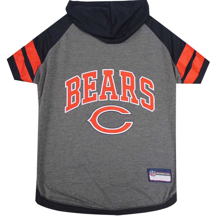 Pets First NFL Chicago Bears Pet Hoodie Tee Shirt