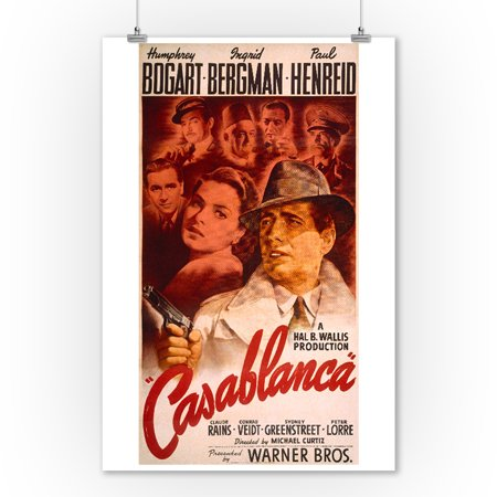 Casablanca Vintage Poster Usa C  1942  9X12 Art Print  Wall Decor Travel Poster