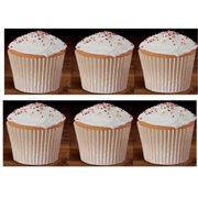 100 White Large and Tall Jumbo Texas Muffin / Cupcake Cups White flutted Cupcake Liners Baking Cups