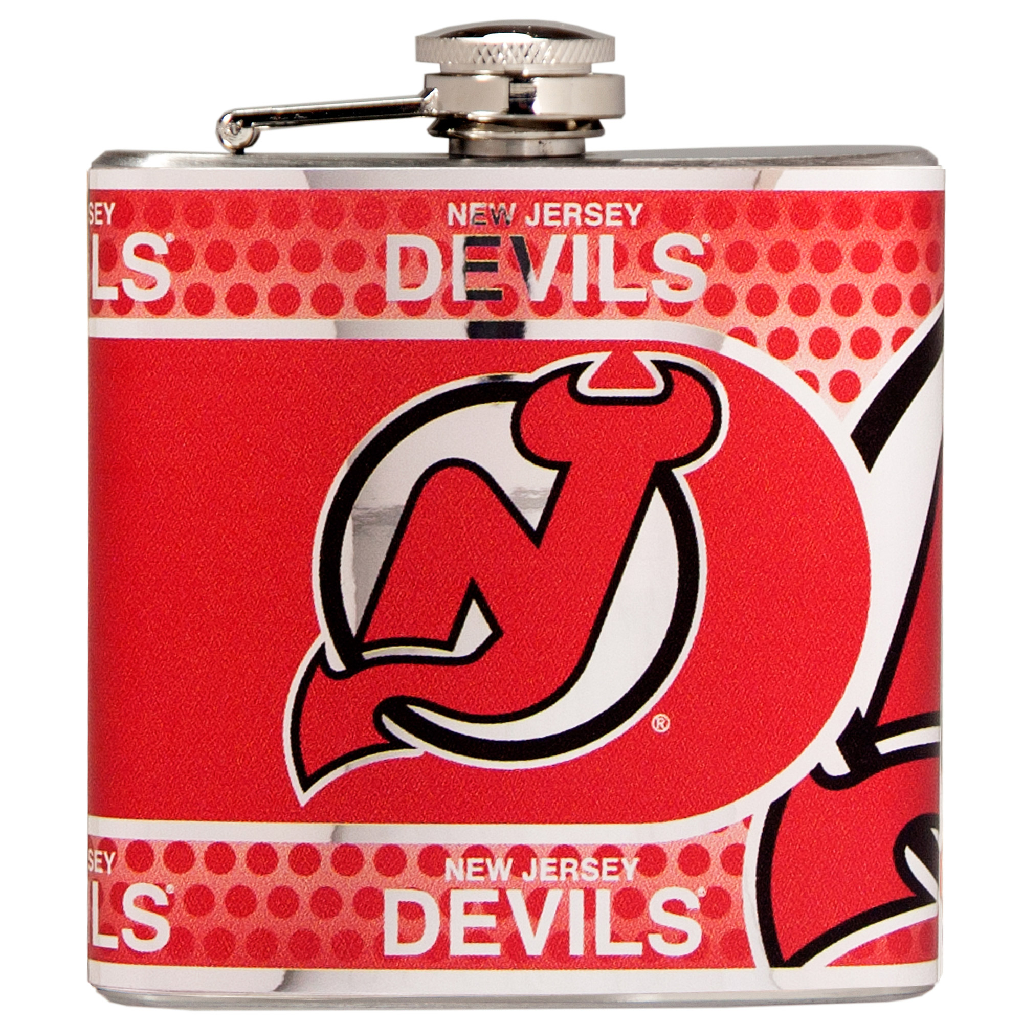 New Jersey Devils 6oz. Stainless Steel Hip Flask - Silver - No Size