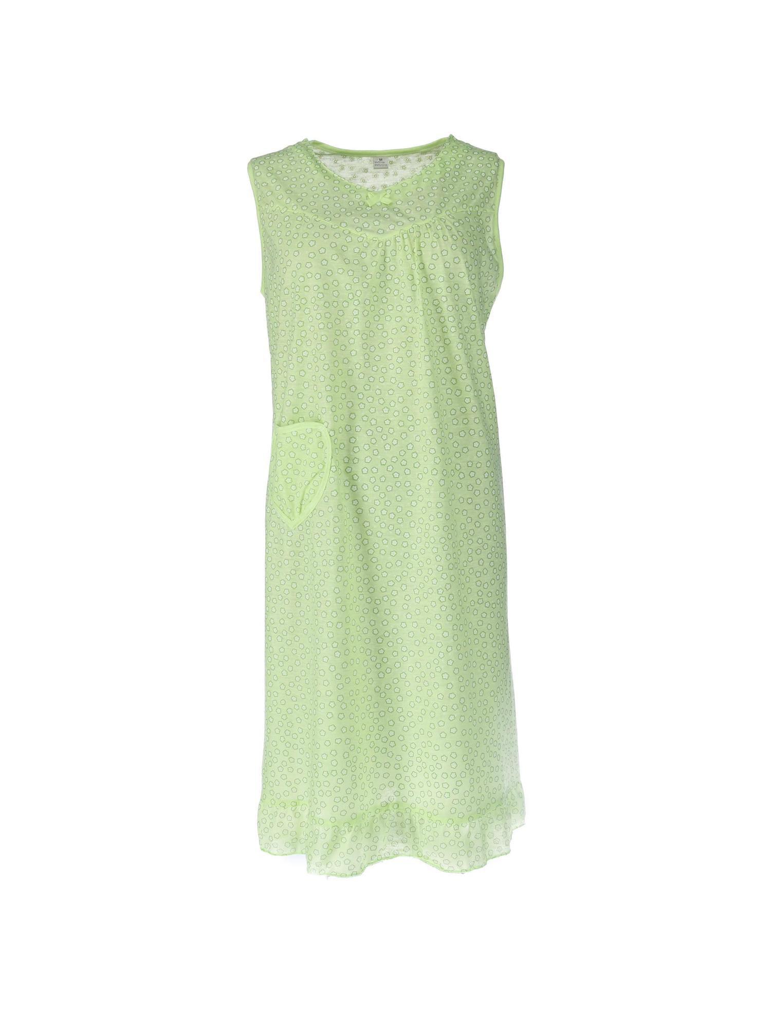 CTM Women's Sleeveless Heart Pocket Night Gown