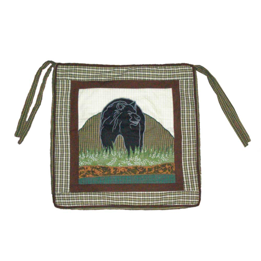 """Patch Magic Bear Country Chair Pad 16"""" X 16"""" by Patch Magic"""