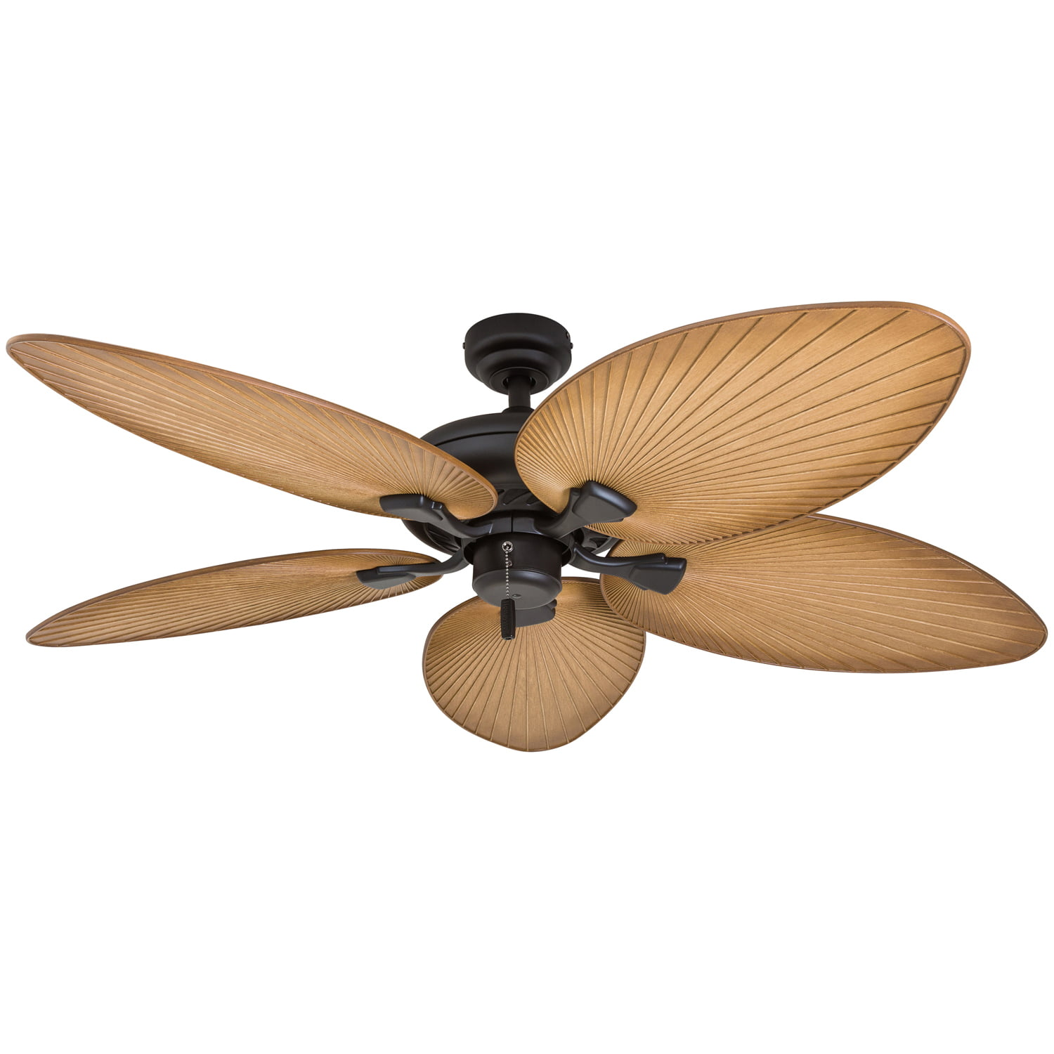 "Honeywell Palm Valley 52"" Bronze Tropical Ceiling Fan With"