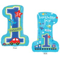 "Burton & Burton 28"" 1st Birthday Boy Balloon"