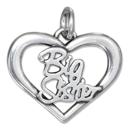 STERLING SILVER OPEN HEART BIG SISTER -