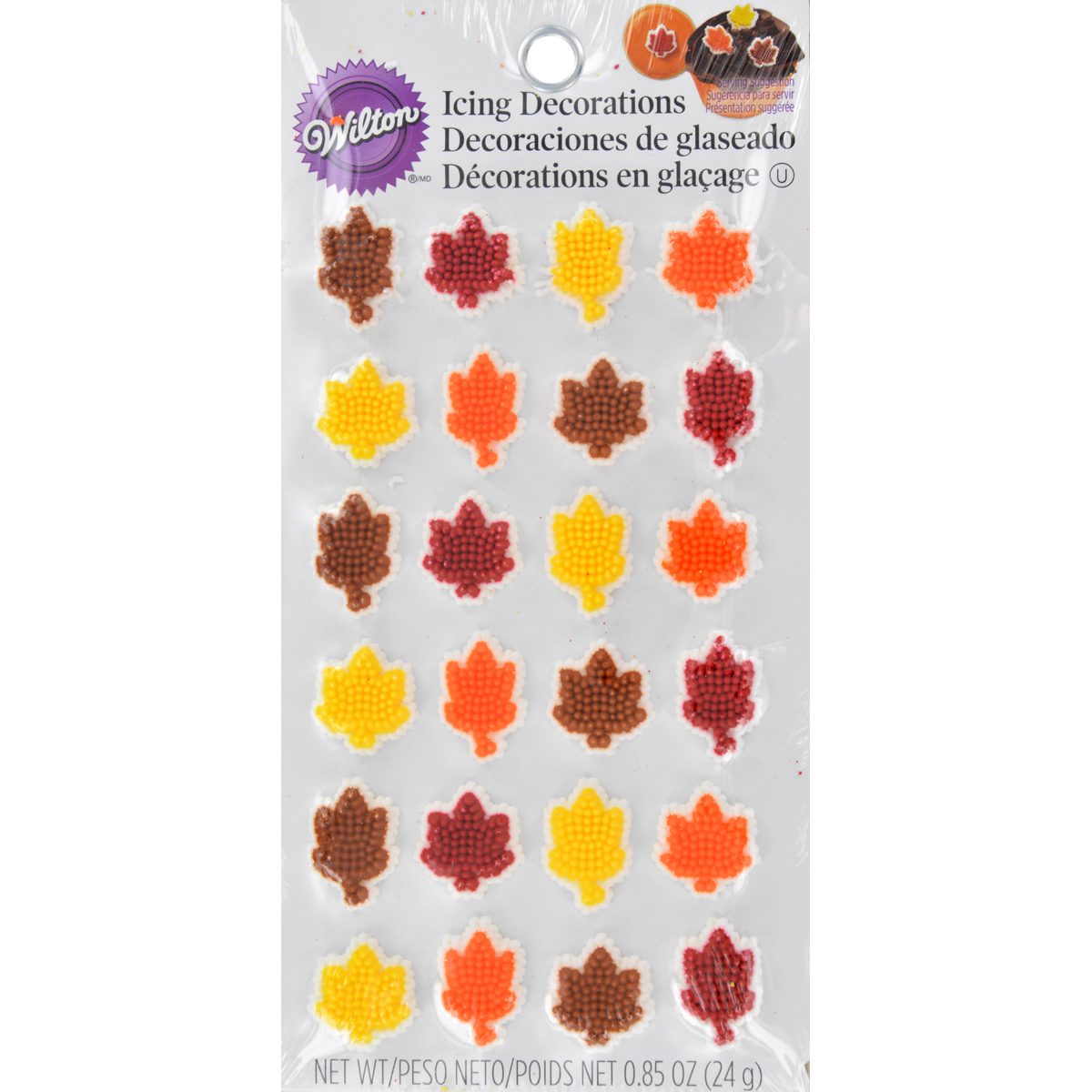 Wilton® Autumn Assorted Leaf Icing Decorations 0.85 oz. Pack