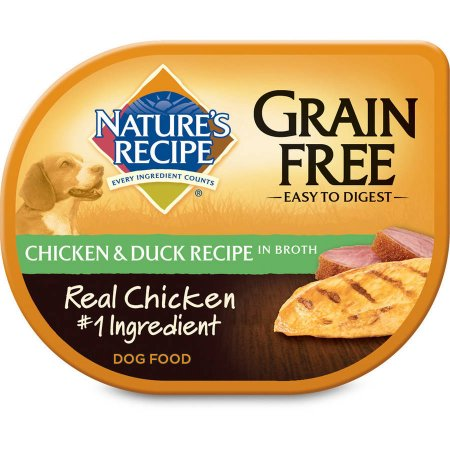 (12 Pack) Nature's Recipe Grain Free Easy to Digest Chicken & Duck Recipe In Broth Wet Dog Food, 2.75-Ounce