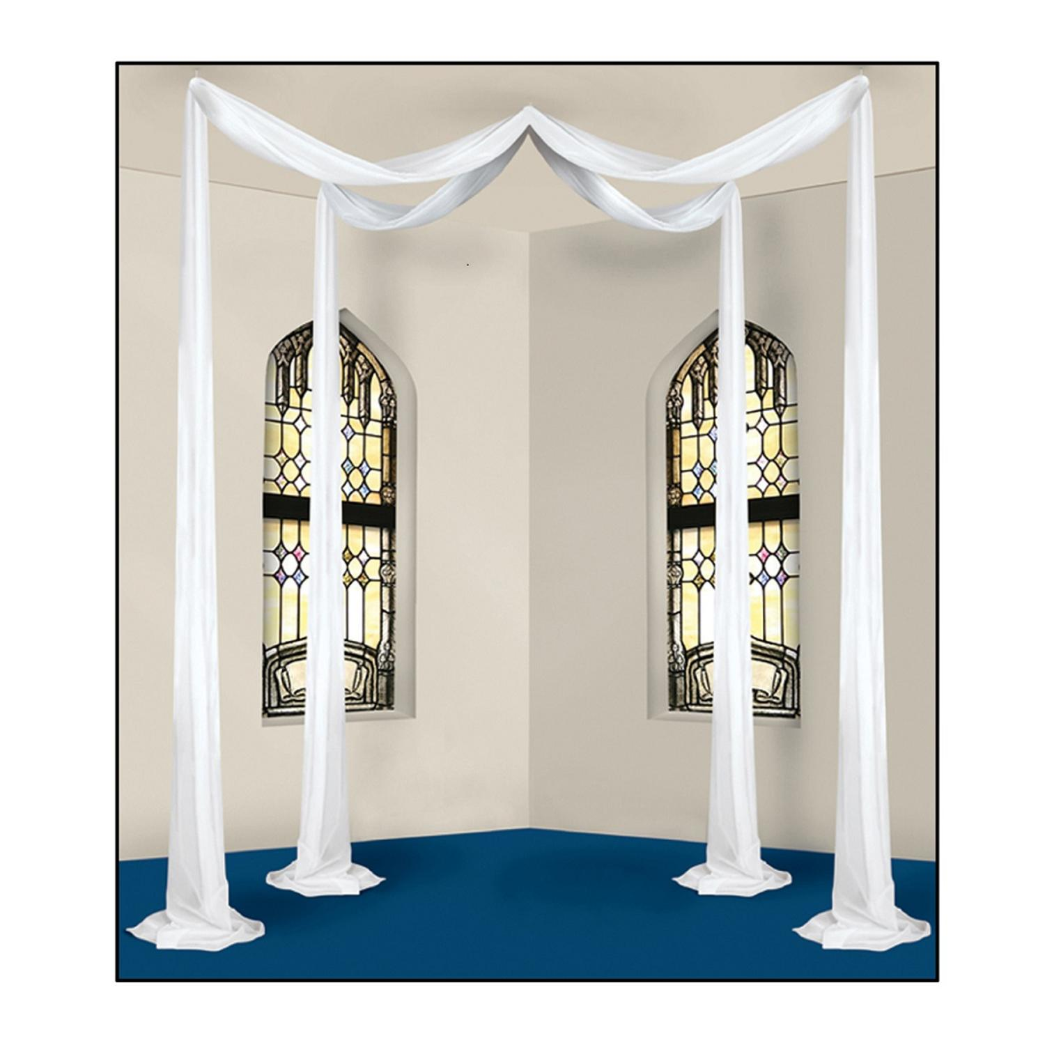 White Elite Collection Wedding Celebration Canopy Hanging Decoration 72'
