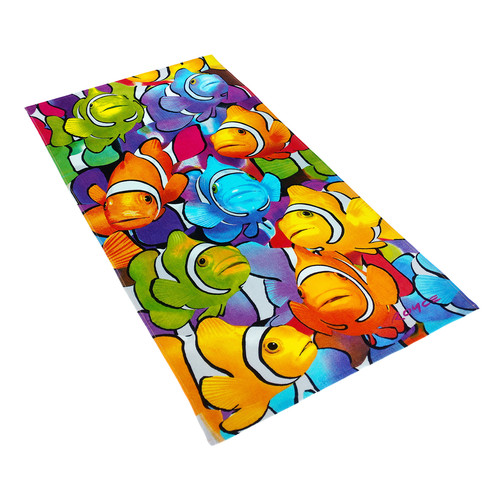 Kaufman Sales Royce Clown Fish School 100pct Cotton Beach Towel