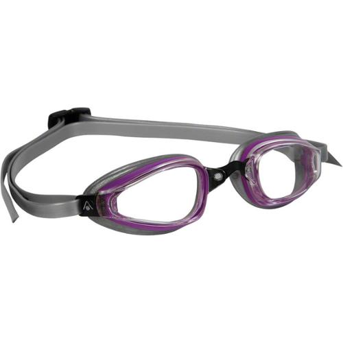 Aqua Sphere K-180+ Lady Goggles Purple/Silver with Clear Lens