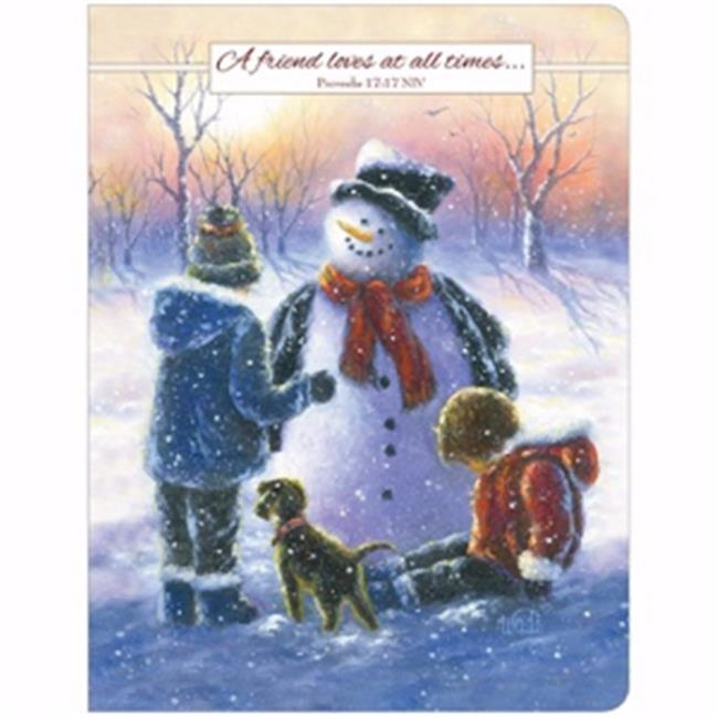 Legacy Publishing Group 195706 6.63 x 8.25 Notebook Chubby Snowman with Children - image 1 of 1