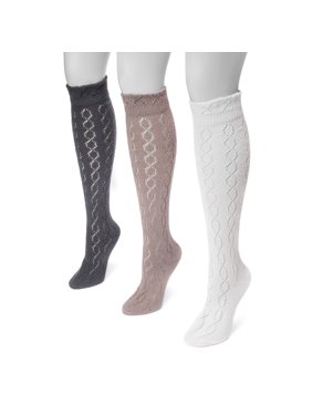701cf1ed8 Product Image Women s Pointelle Knee High Socks 7 x 3.5