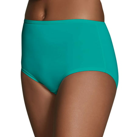 Plus Size Womens Underwear - Fruit of the Loom Women's Microfiber Brief Panties - 6 Pack