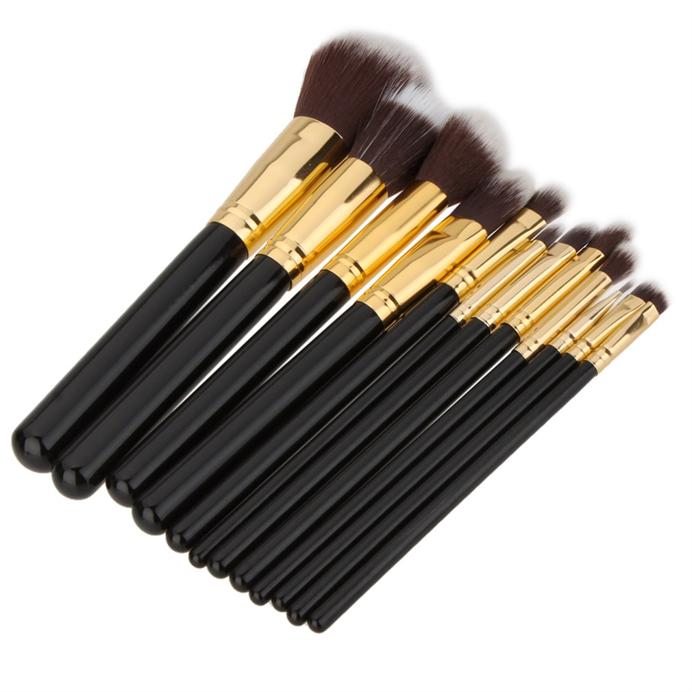 12 Pcs Makeup Cosmetic Blush Brush Eyebrow Foundation Powder Brushes Set