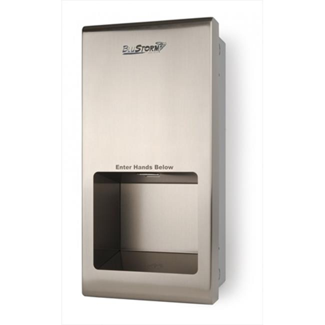 E-Z Taping System HD0955-09 BluStorm High Speed Recessed Hand Dryer in Stainless