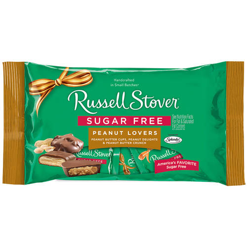 Russell Stover Sugar Free Peanut Lovers Chocolate Candy Assortment, 10 oz