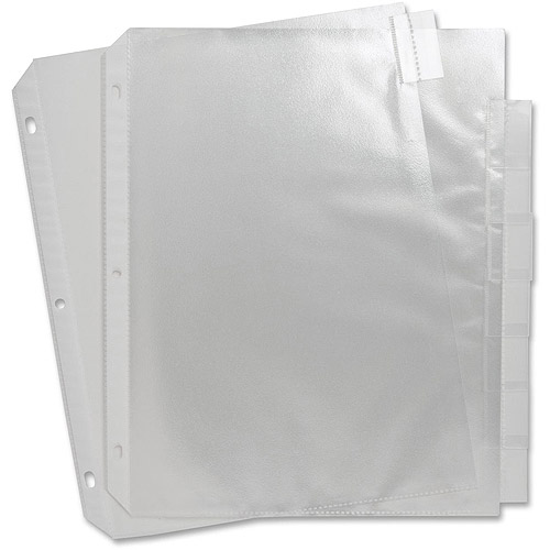 Sparco Top-Loading Sheet Protectors with Index Tabs
