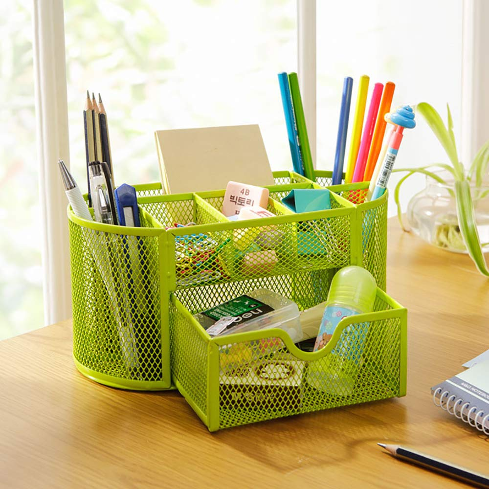 Metal Pattern Mesh Desktop Pen Holder Organizer Office Desk Stationery Case Hot