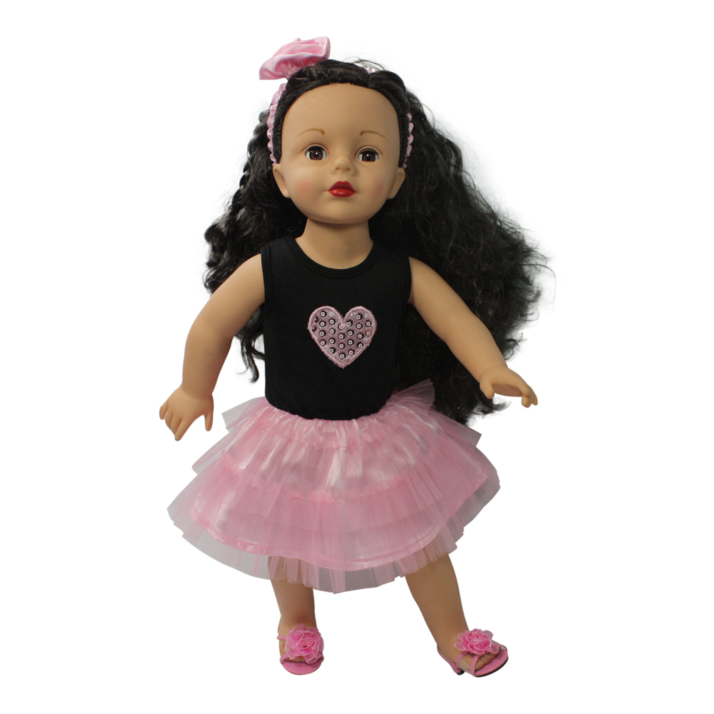 Arianna I Love You Beyond Dress - Pink Fits 18 inch dolls