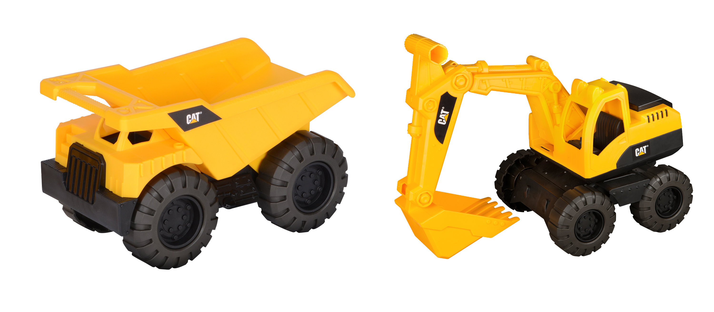 Caterpillar Tough Tracks Rugged Machine Dump Truck and Excavator 2 pack by Toy State International Limited