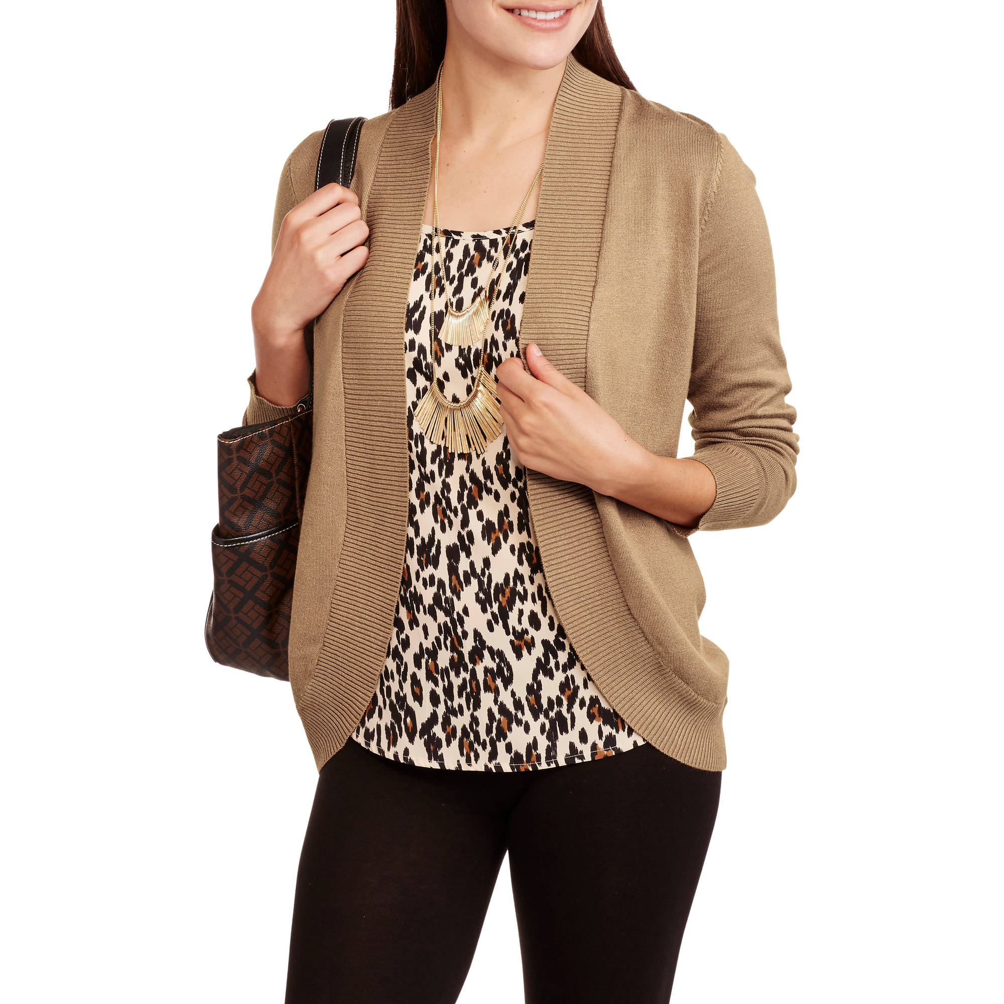 Faded Glory Womens Classic Blouse And Sweater 2fer Walmart