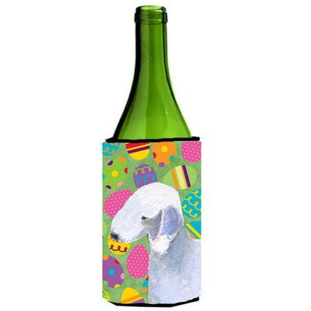 Bedlington Terrier Easter Eggtravaganza Wine bottle sleeve Hugger - image 1 of 1