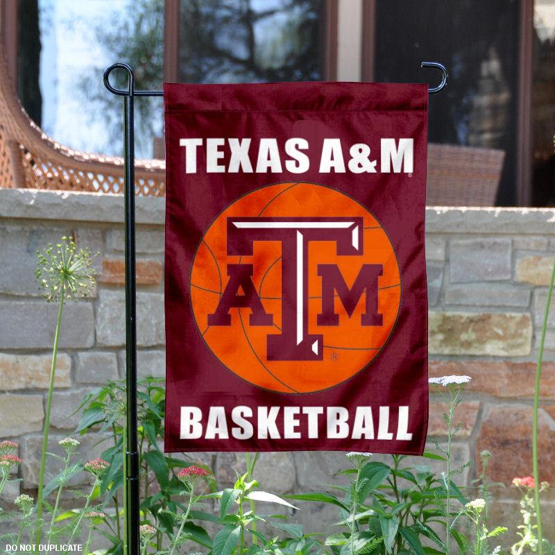 """Texas A&M Aggies Basketball 13"""" x 18"""" College Garden Flag"""
